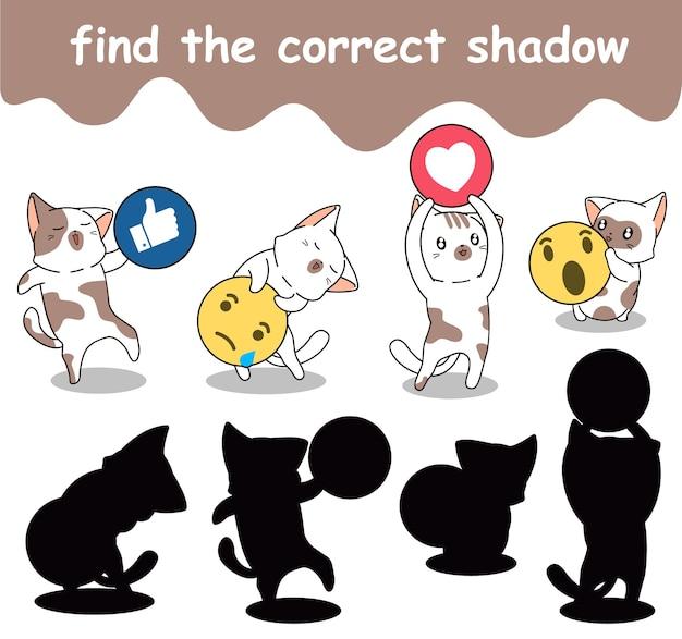 Encuentra la sombra correcta de gatos adorables con íconos de redes sociales