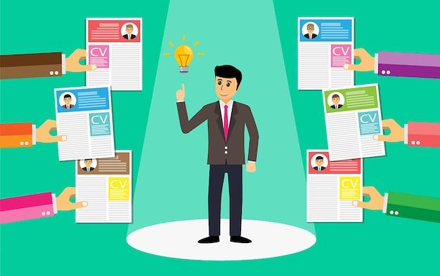 Encuentre un trabajo, gerente buena idea