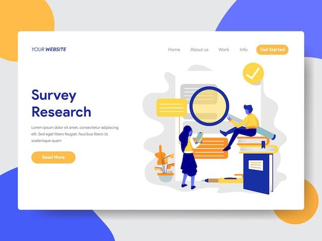 Encuesta ilustración de investigación para página web