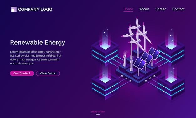 Energía limpia, sitio web moderno de ingeniería energética
