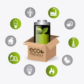 Energía verde y ecología.