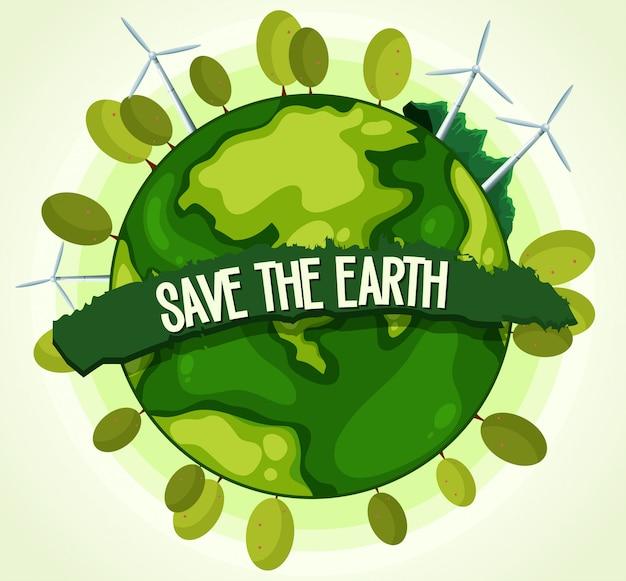Energía verde para salvar la tierra.