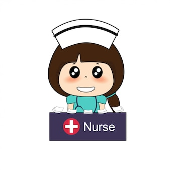 Enfermera personaje de dibujos animados