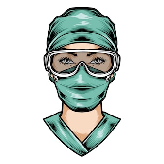Enfermera usar uniforme de cirugía