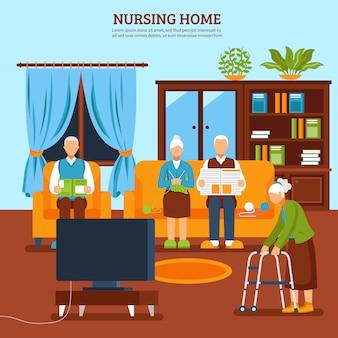 Enfermería de ancianos composición interior