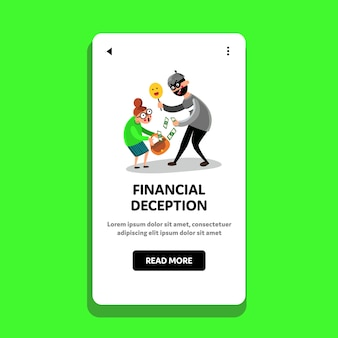 Engaño financiero engaño dinero gente