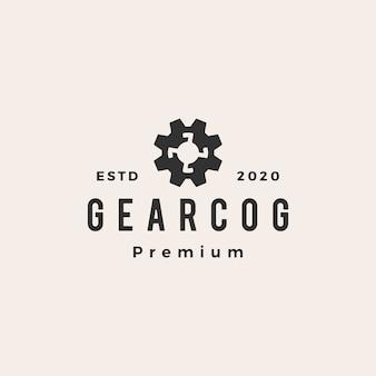 Engranaje cog cogs vintage logo icono ilustración