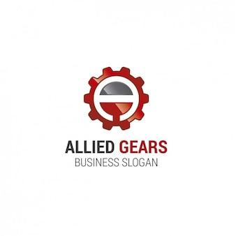 Engranaje del logotipo de la plantilla