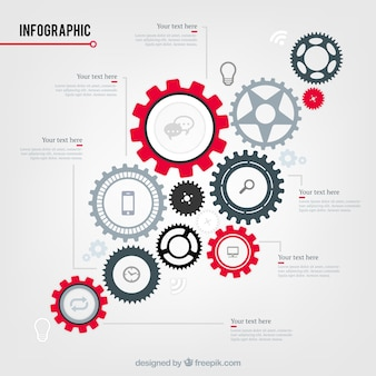 Engranajes infografía