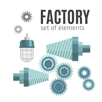 Engranajes mecánicos conjunto de elementos.