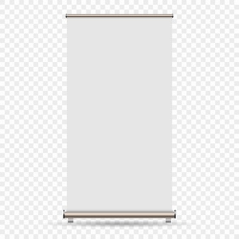 Enrolle la bandera aislada en el fondo transparente