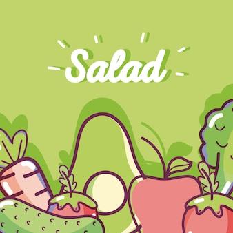 Ensalada deliciosa y saludable