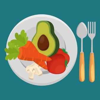 Ensalada de verduras frescas