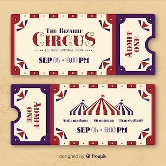 Entrada de circo vintage