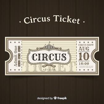 Entrada vintage de circo