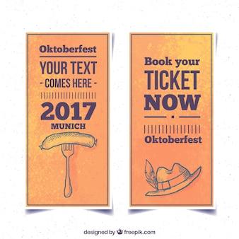 Entradas vintage para el festival oktoberfest 2017