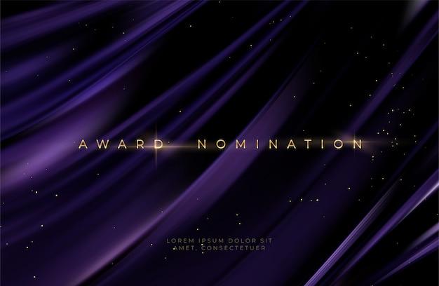 Entrega de la ceremonia de nominación lujo ondulado negro