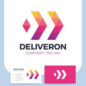 Entrega de negocio abstracto o plantilla de diseño de logotipo logístico icono