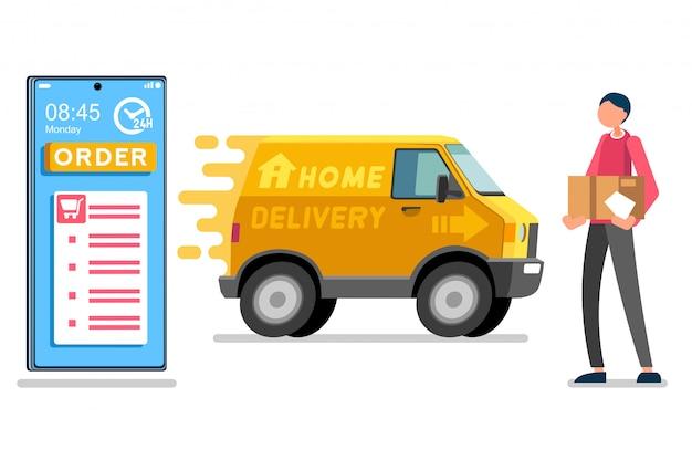 Entrega de paquetes de mensajería a domicilio