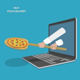Entrega rápida de pizza.