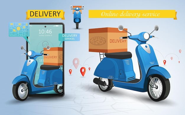 Entrega rápida por servicio de scooter
