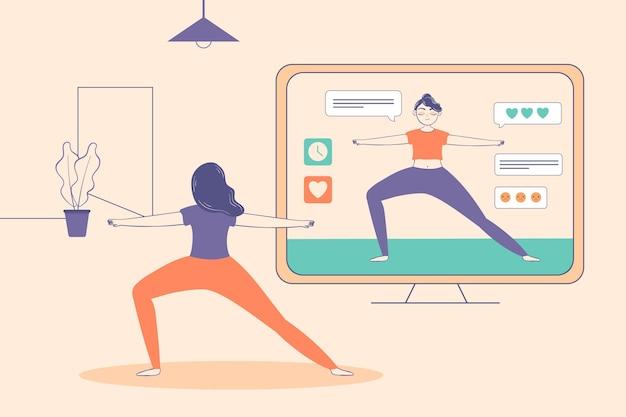 Entrenador personal en línea deporte desde casa