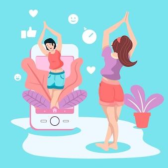 Entrenador personal en línea para ejercicios en el hogar