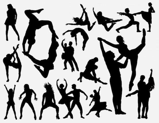 Entrenamiento de baile silueta