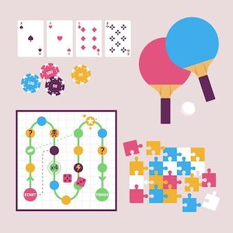 Entretenida colección de juegos de mesa
