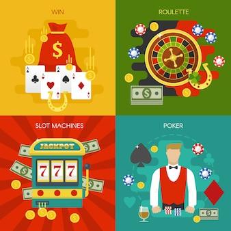 Entretenimientos en el concepto de casino