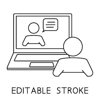 Entrevista de trabajo en línea comunicación en línea chat atención al cliente o servicio