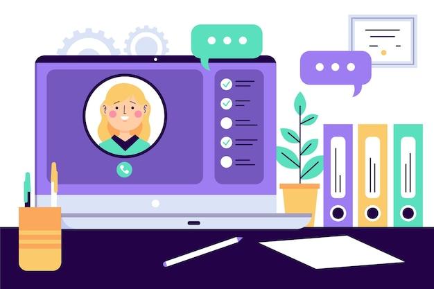 Entrevista de trabajo en línea