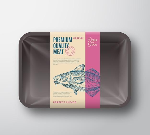 Envase de bacalao de primera calidad