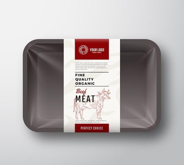 Envase de carne de vacuno de buena calidad