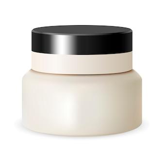 Envase cosmético de la belleza de whitte