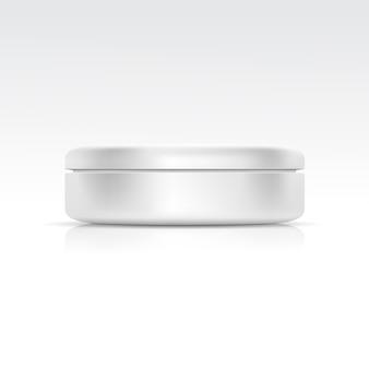 Envase cosmético en blanco para crema, polvo o gel