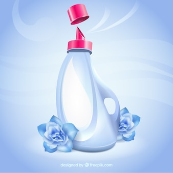 Envase futurista de detergente