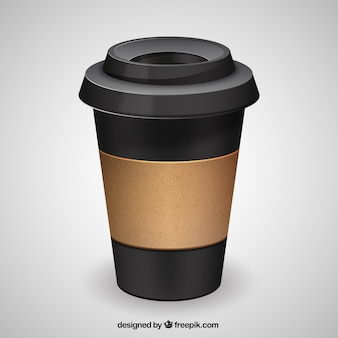 Envase negro de café