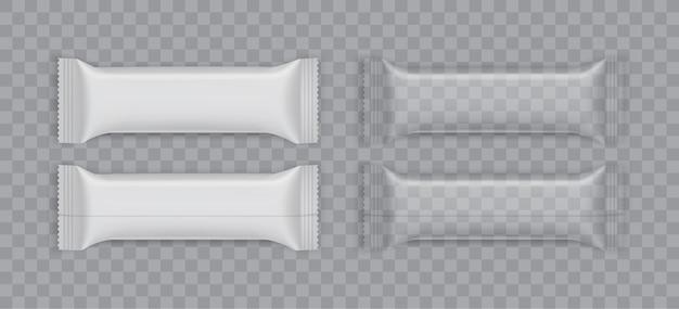 Envases de plástico blanco aislado
