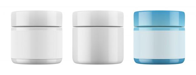 Envases de plástico brillante para cosméticos