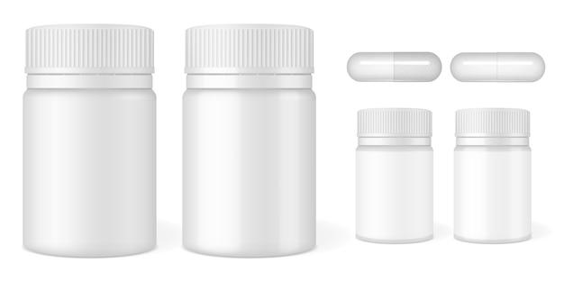 Envases de plástico para tabletas y píldoras.