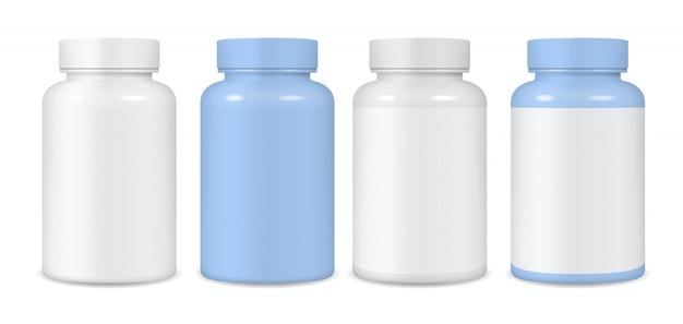 Envases de plástico para tabletas.
