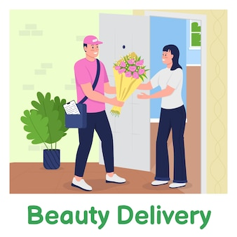 Enviar flores maqueta de publicación en redes sociales