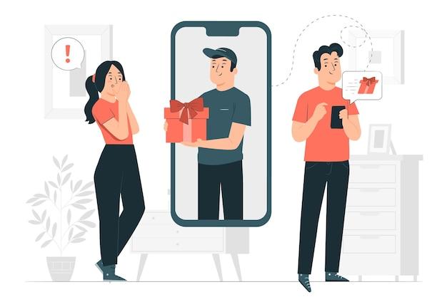 Enviar ilustración del concepto de regalo