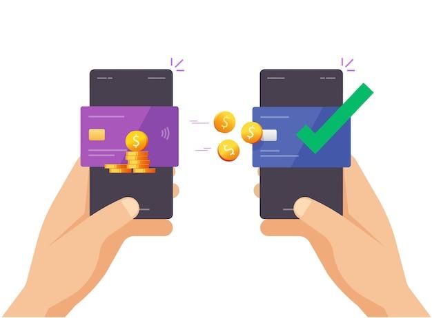 Envío de dinero móvil transferencia de tarjeta de crédito bancaria a tarjeta