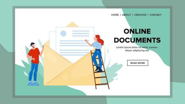 Envío de documentos en línea carta en sobre