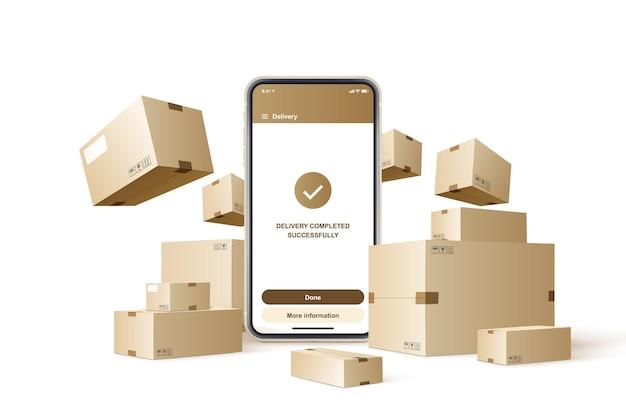 Envío rápido. concepto de servicio de entrega rápida