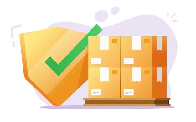 Envío transporte seguro y carga carga entrega logística garantía escudo