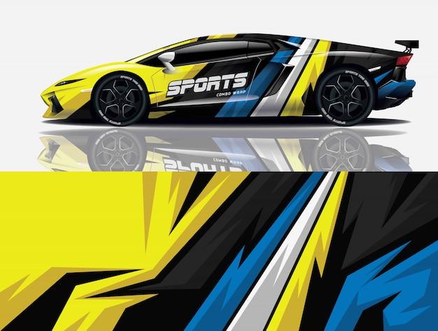 Envoltura de calcomanías de autos deportivos