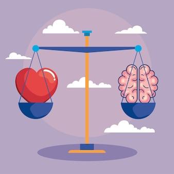 Equilibrio del corazón y el cerebro